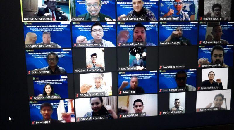 Fakultas Hukum UNAS Buat PKPA dengan Media Pembelajaran Online di Zoom