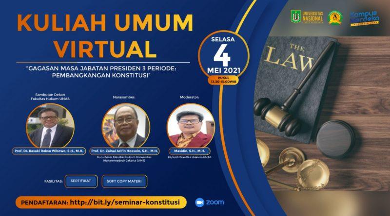 Kuliah Umum Fakultas Hukum, Ulas Wacana Masa Jabatan Presiden Tiga Periode